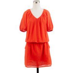 J.Crew Whisper Gauze Siesta Dress Orange, Sz Xxs