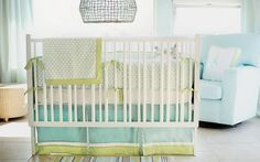 love the lime green and turquoise combo #nursery
