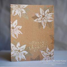 Stampin' Up! Reason for the Season, Christmas card, スタンンピンアップ, クリスマスカード, ポインセチア