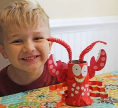 Five ocean-themed crafts for kids!  THese look cute!!
