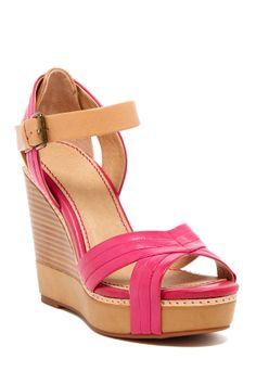 Pink & Brown Wedge