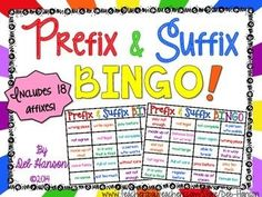 Prefix and Suffix Bingo