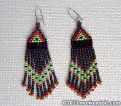 Картинки по запросу beaded fringe earrings