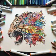 Dietro il dipinto : Doodle art che passione!!!!!!!!