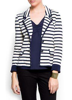 I love blazers. I love stripes. I love this.