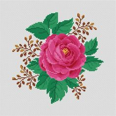Monogram Cross Stitch, Cross Stitch Bird, Cross Stitch Flowers, Cross Stitch Charts, Cross Stitching, Floral Embroidery, Embroidery Patterns, Crewel Embroidery, Flower Patterns