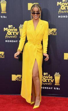 617f31981d Kim Kardashian from MTV Movie   TV Awards 2018  Red Carpet Fashion