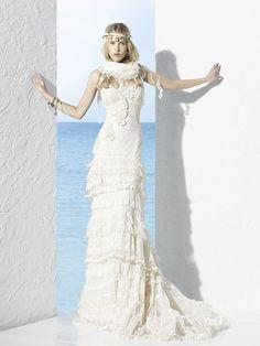 Brautkleid Hippie Luxus | Friedatheres