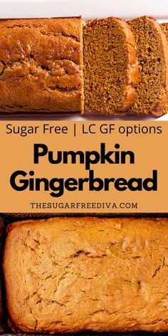 Amazing tasting that also smalls amazing baking! This delicious recipe for Pumpkin Gingerbread is made without adding sugar. Sugar free with gluten free and keto options makes this homemade DIY yummy bread perfect for fall holidays, Halloween, Thanksgiving, and Christmas baking.