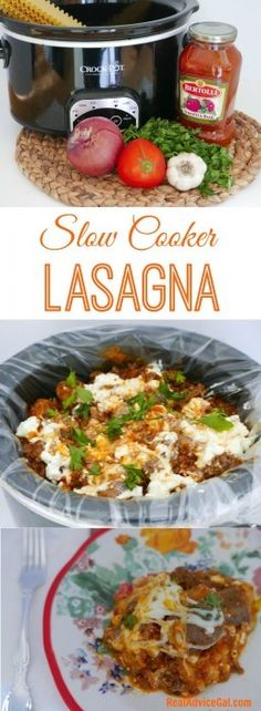 Easy to prepare and so delicious slow cooker lasagna recipe #AD