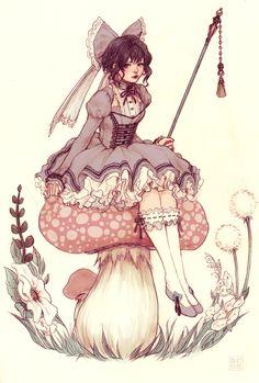 Toadstool Fairie by JDarnell