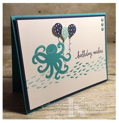 """All Hands on Deck is made with Stampin' Up's """"Sea Street,"""" """"Build a Birthday,"""" and """"Party Wishes"""" stamp sets."""