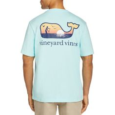 Vineyard Vines Paddle Board Whale Pocket Tee ($42) ❤ liked on Polyvore featuring men's fashion, men's clothing, men's shirts, men's t-shirts, jake blue, mens pocket t shirts, mens blue shirt, vineyard vines mens shirts, mens cotton shirts and mens blue t shirt