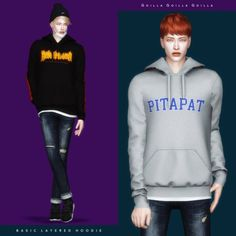 Basic Layered Hoodie for The Sims 4