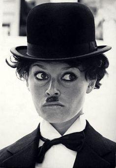 3d64a316847 Brigitte Bardot as Charlie Chaplin Charlie Chaplin