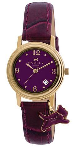 Radley Ladies Gold Plated Purple Dial Watch £75.00