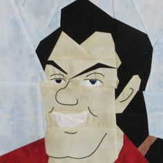 Gaston by Lynne Schwarz paper pieced Are you especially good at expectorating? Gaston is too, brought to you by Lynne with a li. Quilting Projects, Quilting Designs, Quilt Design, Quilting Ideas, Scrappy Quilts, Baby Quilts, Paper Quilt, Quilt Art, Star Wars Quilt