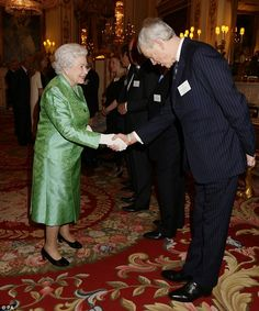 dailymail:  Queen Elizabeth greeted Major General Jamie Balfour, Director General of the Winston Churchill Memorial Trust, during a reception for the 50th anniversary of the Winston Churchill Memorial Trust, Buckingham Palace, March 18, 2015