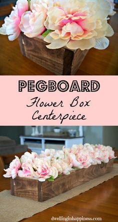 Pegboard Flower Box Centerpiece - Dwelling In Happiness