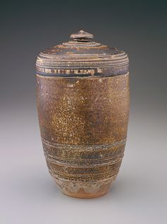 Southeast Asian Art | Cylindrical jar with lid | S1996.120a-b