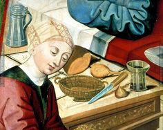 detail from Tod Mariens: Meister des Eggelsberger Altars; Oberösterreich, 1481-1481; Linz; Österreich; Schloßmuseum