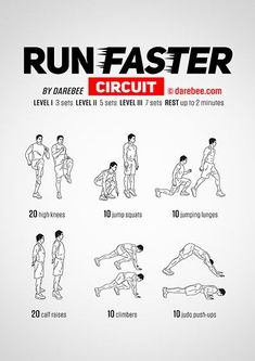 How to Run Faster or Run Longer #Circuitworkouts