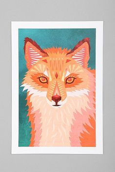 Tia Eastwood For Society6 Red Fox Art Print - Urban Outfitters