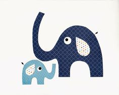 SLONI  Daddy and Me Elephant Nursery Artwork Print // Baby Room Decoration // Kids Room Decoration // Gifts Under 20 on Etsy, $14.00