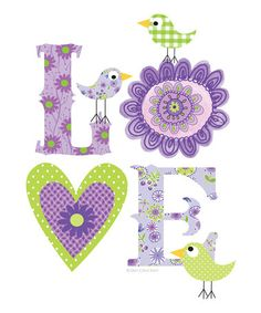 Take a look at this Purple 'Love' Print by Ellen Crimi-Trent on #zulily today!