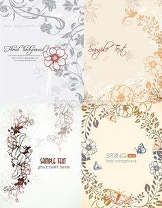 Simple but elegant floral background Vector