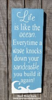 Inspirational Beach Sign - Beach Décor - Gift - Hand Painted - Rustic - Beach House Decoration Inspirational Motivational Positive Life Quotes Work Hard Dream Beachy Gifts Teens Graduation Gifts