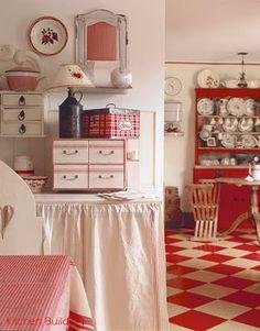 a charming kitchen vignette...