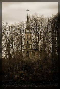 abandoned church on an small island in the sea of castle Monrepos near Ludwigsburg  photo by dabduedel on flickr