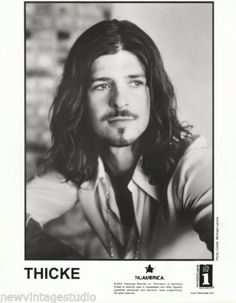 Long-Haired-Robin-Thicke-2002-Original-B-W-8x10-Record-Company-Press-Photo