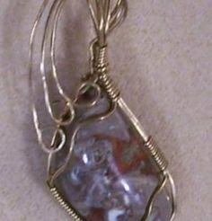 FREE S -Pendant- Splendid Mushroom Jasper Wrapped in Gold -A JewelryArtistry Original- P186