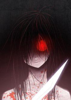 This reminds me of the slasher from Durarara! Creepy Horror, Creepy Art, Horror Art, Durarara, Dark Anime, Yandere, Manga Gore, Anime Manga, Anime Art