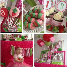 Strawberry Shortcake for coco party 6th Birthday Parties, 2nd Birthday, Birthday Ideas, Birthday Board, Strawberry Shortcake Birthday, Party Planning, First Birthdays, Party Time, Party Party
