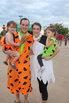 wilma fred and bam bam holloween costumes | ... Fred and Wilma from some friends, pretty cheap Halloween this year
