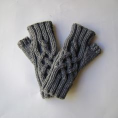 Grey Hand-Knit Fingerless Gloves. Wrist Warmers, Hand Warmers, Texting Gloves, Warmest Winter Gloves, Fingerless Gloves Knitted, Crochet Flowers, Snug Fit, Dark Grey, Hand Knitting