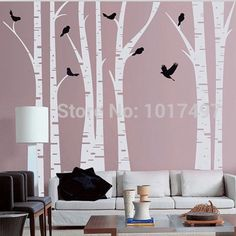 Tree Wall Decal Tree Love Forest Wall Decals with Deer Bird Tree Wall Stickers art mural for Kids Rooms Living Room Nursery ** Be sure to check out this awesome product. (This is an affiliate link) Wall Stickers Home Decor, Vinyl Wall Stickers, Wall Decals, Nursery Room Decor, Living Room Decor, Birch Tree Wall Decal, Tree House Decor, White Birch Trees, Murals For Kids