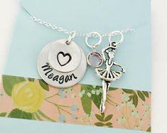 Ballerina Necklace, Dancer Name Necklace, Ballet Gift, Dance Team Necklace , Dance Recital, Gift for Ballerina