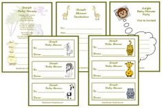 Jungle Baby Shower Games that will really send you ape, yes, you will find over 20 themed jungle baby shower games Right Here, but that's not all, all the games are free for you to print out and play. The jungle babyshower games pack bundle is unique.