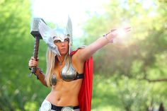 Femme Thor shows her power. A shot too cool not to share!