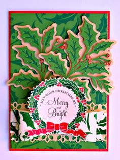 handmade+christmas+cards+cricut+winter+wonderland | ... Stickles to the Poinsettia was a great way to make this card sparkle