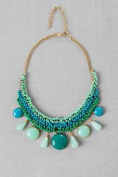 Delhi Beaded Necklace in Turquoise