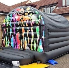 Bouncy castles, Rodeo bull and Soft play hire Disco Bouncy Castle, Soft Play, Baby Car Seats