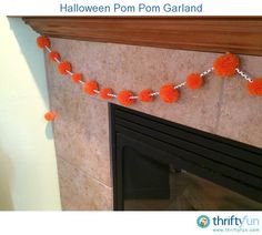 This fun garland is created with homemade pom poms and fancy paper drinking straws!