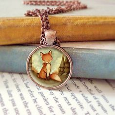 Red Fox Necklace Fox Pendant Fox Jewelry Fox by thelittlefox