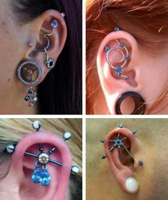 21 New ideas for piercing unusual awesome - Tattoo Life Unusual Piercings, Crazy Piercings, Cool Ear Piercings, Piercing Tattoo, Body Piercing, Ear Jewelry, Body Jewelry, Jewelery, Industrial Piercing Jewelry