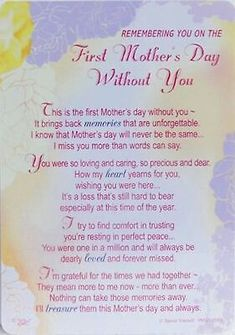First mothers day without you